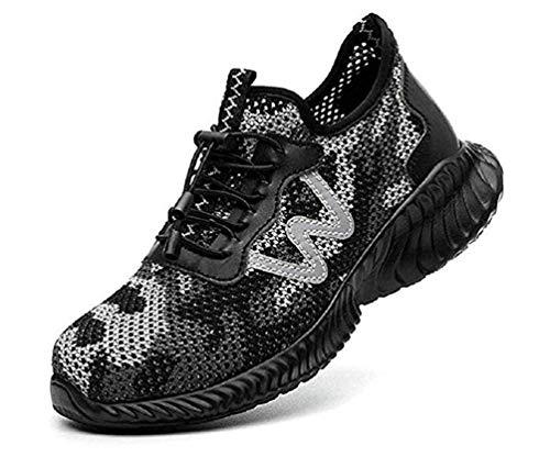 WZgold Sicherheitsschuhe Herren Damen S3 Arbeitsschuhe Schutzschuhe Mit Stahlkappe Atmungsaktiv Schutzschuhe Summer Leichtgewicht Breathable Comfortable Sneakers Unisex