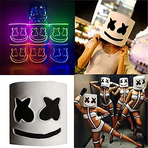 Ritapreaty LED Masken DJ Maske Party Bar Musik Prop Atmungsaktive Maske Kopfbedeckung Nachtclub Bar Performance Requisiten Neuheit Kostüm Party (Toxic Maske Kostüm)
