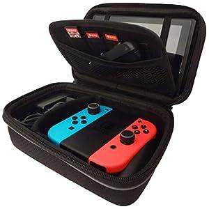 Subsonic – AntiShock Tragetasche für Nintendo Switch – Hartschalen Case für dNintendo Switch Konsole und Zubehör – SCHWARZE – All in one armor case
