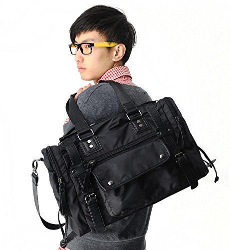 leisure-men-oxford-cloth-waterproof-nylon-travel-bags-backpack-laptop-shoulder-bagcool-flashes-black