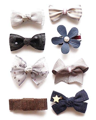 Belle Beau Wunderschöne Haarclips, Schleifen und Haarspangen für Babys und kleine Mädchen, hochwertiges Haarschmuck Set (H)