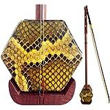 GFEI erhu instrument / acajou erhu / six corne baril, solides bois fond, instrument à cordes, erhu