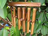 Ca 80cm Windspiel beruhigender Klang Feng Shui Bambus Wind Spiel