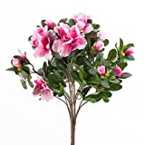 artplants Azalea Artificiale, su picchetto, 75Fiori, 400fogli, rosa, 35cm, ø 30cm-Pianta artificiale/fiore in tessuto