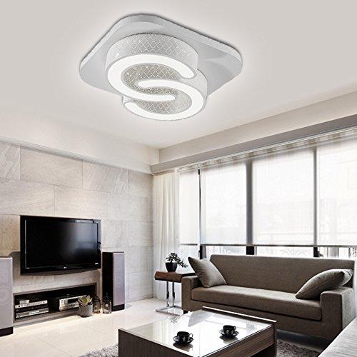 VINGO® 24w LED Deckenleuchte Esszimmer Modern Deckenbeleuchtung Weiß Energiespar Leuchte 85V-265V