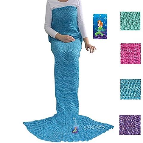 DDMY Mermaid Tail Blanket Adult Crochet Mermaid Tail Blanket Seasons