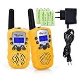 Upgrow RT-388 Walkie Talkie Funkgerät für Kinder mit Wiederaufladbaren Akkus, Kinder Funkgerät Funkhandy