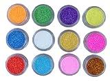Nail Art Glitter Puder Glitzer 12 Dosen