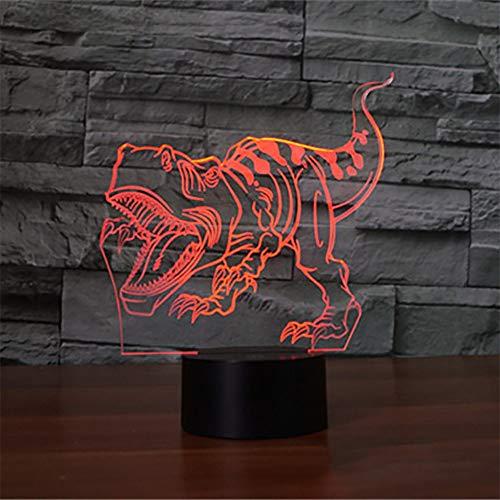 3D cool Park Dinosaurier Junge Geschenk Raubvogel Nachtlicht Led7 Farbe Touch Fernbedienung USB Weihnachten Halloween Geburtstagsgeschenk Schlafzimmer Nachtlicht Augenschutz Modus ## 6