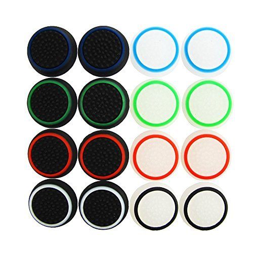 Pandaren® Aufsätze Thumb Grip Stick 16 Einheiten Nachtleuchtende Pack für PS2, PS3, PS4, Xbox 360, Xbox One, Wii U, Switch PRO Controller -