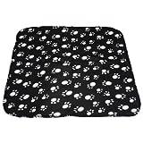 SODIAL (R) 60 * 70cm Hot mignon doux Cozy chaud Empreintes de pattes de chien Cat Fleece Blanket Mat de...