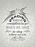 Wee Blue Coo LTD READING GIVES SOMEPLACE STAY COOLEY QUOTE TYPOGRAPHY WALLPAPER 12x16 POSTER Werbung ORT Zitat Typografi