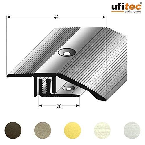 ufitec® Profi Smart Profilsystem für Vinylböden - geeignet für Belagshöhen von 5-9 mm - ALU eloxiert - SILBER - (Höhenausgleichsprofil - Länge: 90 cm, Silber)