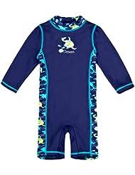 Landora® Baby- / Kleinkinder-Badebekleidung Einteiler mit UV-Schutz 50+ und Oeko-Tex 100 Zertifizierung in blau oder türkis