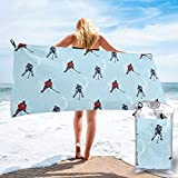 pants hats Abstract Lines Background Ice Hockey Pattern Competitive Match Winter Season Bath Swimming Pool Yoga Pilates Picnic Blanket Beach Towels 27.5