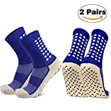 Calzini da calcio antiscivolo, calzini sportivi sportivi da calcio, calzini antisdrucciolevoli con manopole per adulti uomini donne.