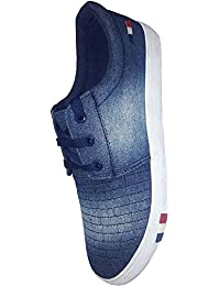MOB Men's Wear Blue White Shoes In Various Sizes