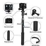 GHB Palo Selfie Gopro para Poste de Extensión Telescópica Gopro Palo con Polo Monopod para GoPro Héroe 4/3 +/3/2 SJ4000 SJ5000 DV Cámara Sony Action CAM/Canon/Nikon etc.