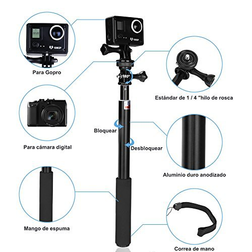 GHB Palo Selfie Gopro Poste extensión telescópica