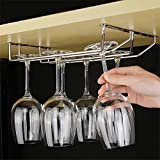#10: Steelwood wine glass holder Double line | wine glass rack | wine glass stand | Glass Holder | Wine Glass Holder | Designer Wine Glass holder | Glass Holder | wine glass hanger | Wine glass rack | wine glass hanging holder | wine glass hanger for bar | wine glass rack | wine glass rack holder