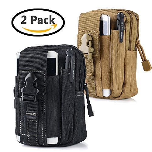 aille Gürteltasche | Outdoor EDC Militär Holster Handy Tasche Gadget Pocket Geldbörse (Taille für iPhone X 8766S Plus Samsung Galaxy S8S7S6S5S4S3Note 85432LG G5LG HTC (Red Skull Halloween-make-up)