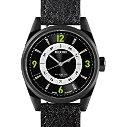 MEDOTA Grancey Men's Automatic Water Resistant Analog Quartz Watch - No. 2805 (Black/Green)