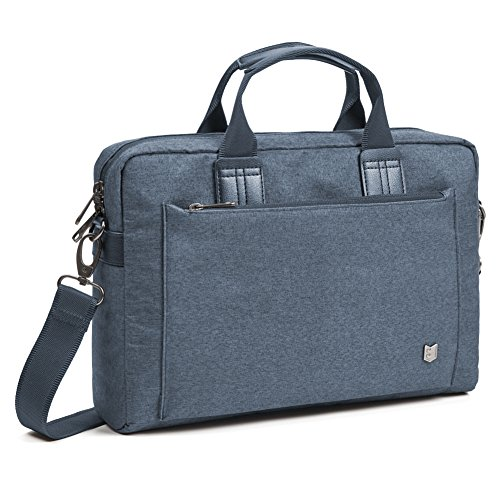 Evecase 11,6 - 13,3 Zoll Business Laptop Aktentasche von City Serie aus wasserabweisendes Material mit Zubehörfach, Laptop Asus / Acer / HP / Dell / Lenovo / Sony / Macbook - Navy (Stream Hp 13-zoll-laptop-tasche)