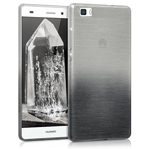 kwmobile Huawei P8 Lite (2015) Hülle - Handyhülle für Huawei P8 Lite (2015) - Handy Case in Anthrazit Silber
