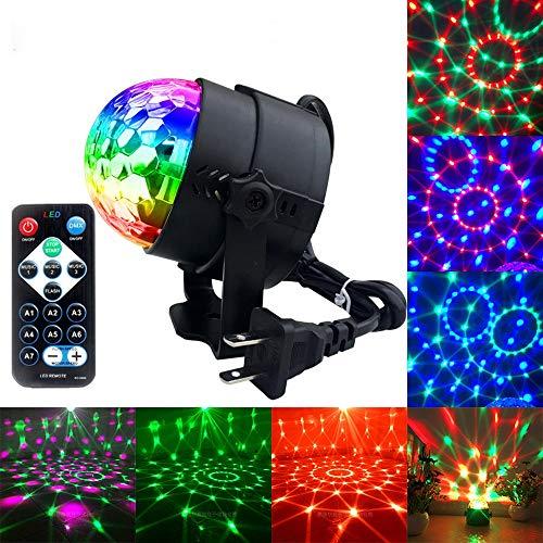 HLGY LED Disco Ball Lichter Upgraded 3 Farben RGBP Party Lights Strobe Light, Fernbedienung Musik Aktiviert DJ Light Magic Rotating Stage Light - Laser Dj Lights