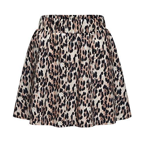 PinkLu Röcke Damen Sexy Leopardenrock Hohe Taille Schlank Urlaub Am Meer Einfach Und Bequem Elegantes Temperament Mode Wild Sommer Neuer HeißEr Brauner Röcke