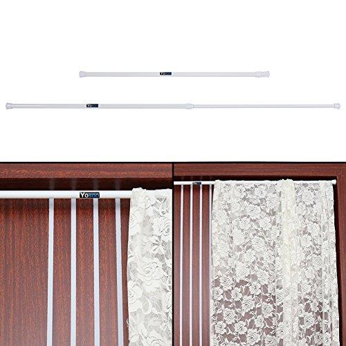 Zerone Barra de cortina telescópica, barra de cortina de ducha de tensión en hierro Barra para cortina de ducha extensible para cuarto de baño Dormitorio Cocina Ventana, 50cm–90cm/85cm–150cm/105–200cm, 55cm-90cm