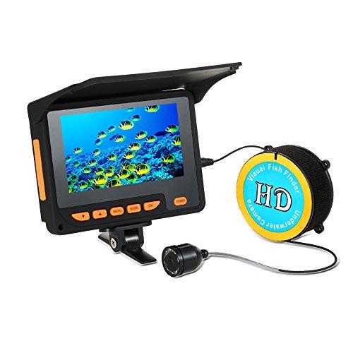 """Lixada Fischfinder Unterwasser Eisfischen Kamera 4,3\"""" LCD Monitor 8 Infrarot IR LED Nachtsicht Kamera 140 ° Weitwinkel 20 M 1000TVL"""