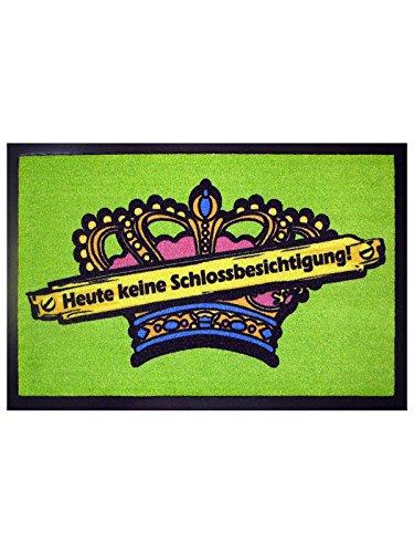Preisvergleich Produktbild Lustige Fussmatte Schlossbesichtigung schwarz bunt 40x60cm