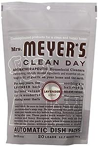 Mrs. Meyers Auto Dishwash Packs, Lavender, 12.7 Ounce