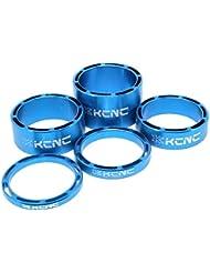 """KCNC hueca 11/8""""móvil separador Set 3–5-10–14mm carretera bicicleta de ciclismo, azul"""