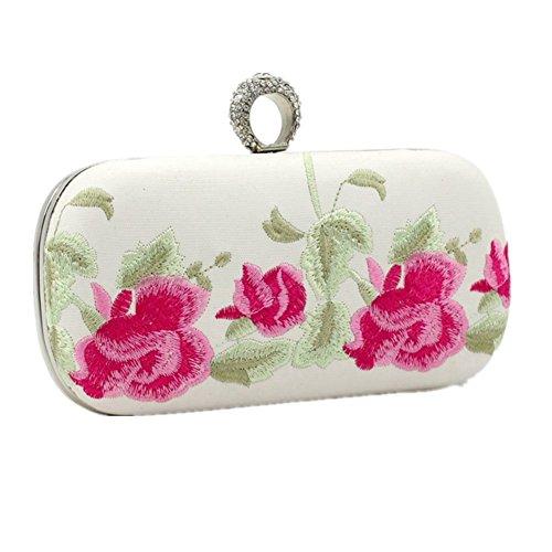 Knöchel Geldbeutel (Shiratori Stickerei Mosaik Cheongsam Ring Knöchel Abend Retro Kupplungs Handbags Brieftasche)