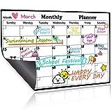 Homein Calendario Magnético de Nevera, Pizarra Planificador Mensual y Semanal de Menú, Recordatorio, Lista de la Compra, Estudio, Calentario Frigorifico con Iman Super Potente, Organizador 43 * 30cm