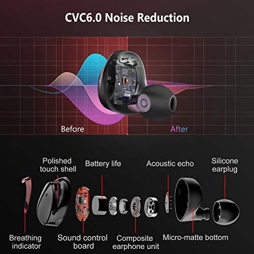 Arbily Bluetooth Kopfhörer Kabellos True Wireless IN Ear Earbuds mit Portable Ladebox 3000 mAh,135 Stunden Spielzeit IPX6 Wasserdicht Bluetooth 5.0 Ohrhörer Sport,Power Bank für Smartphone - 3