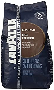 Lavazza Coffee Grand Espresso, Whole Beans, Pack of 6, 6 x 1000g