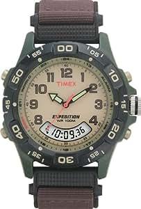 Timex - Homme - T45181 - Quartz Analogique et Digitale - Beige - Noir - Tissu