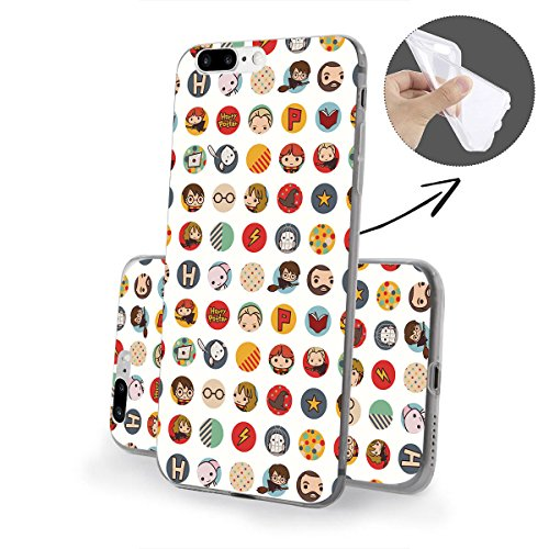 Harry Potter All Serie Silicone Iphone - Case Logo, Iphone 7 Harry Potter Motivo bianco