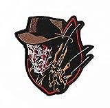 Freddy Krueger parche 3,5pulgadas DIY bordado hierro o coser en insignia Applique una pesadilla en Elm Street película de terror Souvenir Slasher–Disfraz