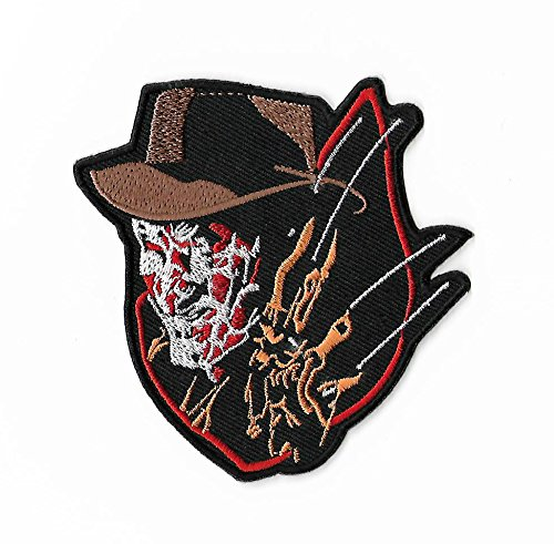 Freddy Krueger Patch 8,9 cm DIY Nähen oder Bügeln bestickt auf Badge Aufnäher A Nightmare On Elm Street Horrorfilm Souvenir Slasher Kostüm (Slasher Kostüm)
