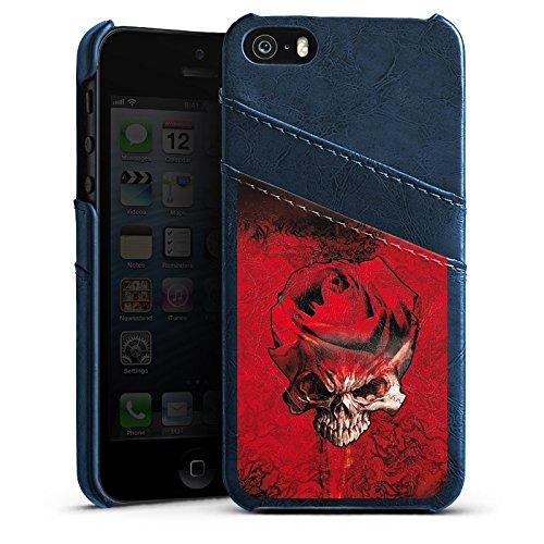 Apple iPhone 4 Housse Étui Silicone Coque Protection Rose Sang Épines Étui en cuir bleu marine
