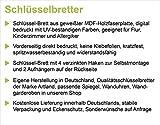 Artland Schlüssel-Brett mit Motiv bedruckt auf Holz mit 4 Haken Eva Gruendemann Nordseestrand auf Langeoog – Steg Landschaften Strand Fotografie Creme 14,8 x 40 x 1,6 cm - 2