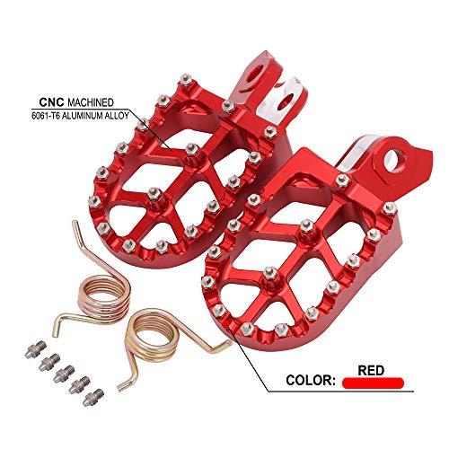 JFG RACING CNC Large Pied Pegs Pédales Repose-pieds repose MX pour Suzuki RMZ250 10-18 , RMZ450 08-18,RMX 450Z 10-17