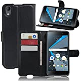 Blackberry DTEK50 Hülle, Wrcibo Flip Case Cover PU