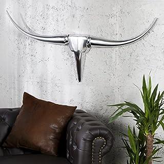 Grosse Wanddeko MINOTAURI 100cm Aluminium spiegelpoliert - Designer Deko Accessoires von ambientica -