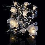 LED Batterie Lichterkette Calla mit Blütenkelche 20 Lichter warm weiß Indoor