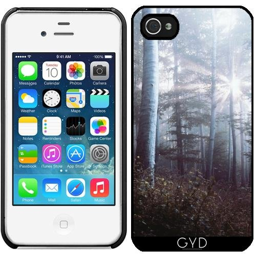 Leder Flip Case Tasche Hülle für Apple iPhone 6 Plus / 6S Plus - Waldbäume Fernweh Natur by Petra Starre Kunststoff